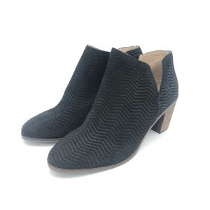 Lucky brand black cute ankle booties